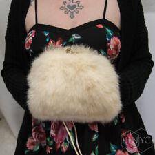 Vintage (30s/40s/50s?) Ivory (Genuine) Rabbit Fur Muff/Purse