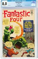 Fantastic Four #1 Golden Record Reprint (w/record) (Marvel, 1966) CGC VF 8.0