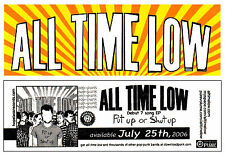 All Time Low Put Up Or Shut Up Ltd Ed Rare Sticker +Free Punk Emo Rock Stickers!
