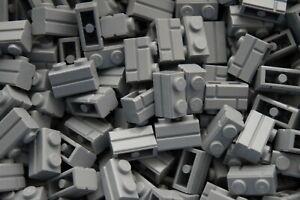 LEGO 40 x LIGHT GREY BRICKS 1x2 No 98283 - WALL PANEL- STAR WARS-CITY RARE !