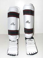 TAEKWONDO gear Shin protector Shin Instep Guard martial arts sparring foot gear
