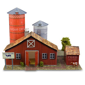 1:43 Scale Sugar Creek Farm Diorama Photo Real Building Kit Model Layout Sets