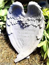 Latex with plastic backup angel wings Mold garden concrete  plaster mold