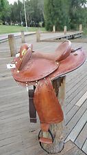 Kids / Pony- HALF BREED SWINGING FENDER SADDLE-STOCK/WESTERN ALT- SIZE 13 / 14