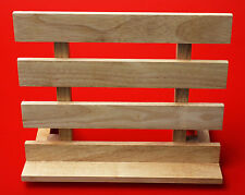 Natrual Rubber Wood Book Stand Adjustable Tablet iPad Tilting Holder
