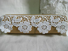 LM6 vintage bridal white sakura heart-petal flower sewing lace trim 6cm X 2yards