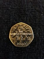 VERY RARE BATTLE OF BRITAIN PILOTS SCRAMBLING  50P GOOD CONDITION