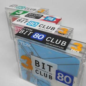 New! 4 Packs Of 3 Minidisc TDK BitClub