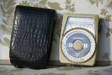 Leningrad 4 vintage exposure light meter USSR original leather case working