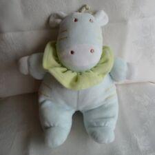 Doudou Vache Tex - Bleu Vert
