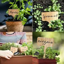 25pcs Bamboo Garden Plant Labels Pot Marker Sign Tags Wooden Yard Label