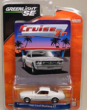WHITE 1965 FORD MUSTANG GT GREENLIGHT 1:64 SCALE DIECAST METAL CAR