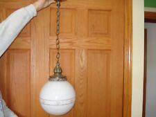 vintage 1960s ef& ef industries hanging swag light. antique brass.