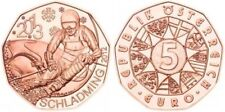 Austria 5 Euro coin € Copper 2013 2012 Schladming Ski World Cup UNC