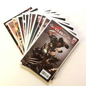 X-Force #1-12 Marvel 2008 Yost, Clayton Crain Art!9.2 NM- (#5 Bloody variant)