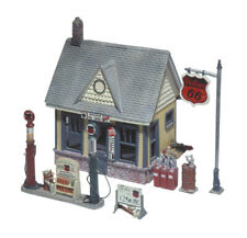 GAS STATION HO-KIT IN UNFINISHED DETAILED METAL CASTINGS -WOODLAND SCENICS -EASY