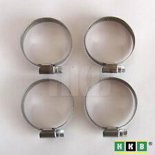 4 Schlauchschellen mit Schnecke, INOX / V2A, 32-50mm, 12mm breit, DIN3017, 20462