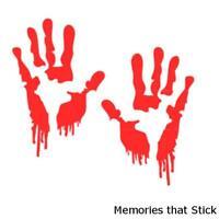 2 x BLOODY ZOMBIE HANDS Funny Caravan Swift Bailey Novelty Vinyl Decal Sticker