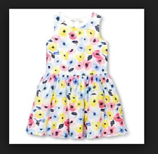 Cherokee Girls Size Large 10/12 Watercolor Floral Sleeveless Dress NWT