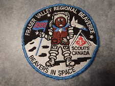 1990 Boy Scouts & Beavers of Canada:  Badge / Patch: Space Shuttle & Astronaut