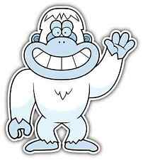 "Bigfoot Sasquatch Yeti Snowman Foot Funny Car Bumper Vinyl Sticker Decal 4""X5"""