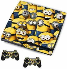 Minions Sticker/Skin PS3 Playstation 3 Console/Remote controllers,psk2