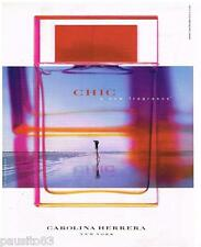 PUBLICITE ADVERTISING 105  2002  CAROLINA HERRERA  parfum femme CHIC