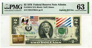 $2 DOLLARS 1976 STAMP CANCEL KNOXVILLE WORLD FAIR & HANUKKAH LUCKY MONEY $3000
