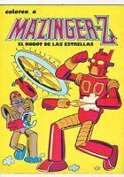 LOTE 2 CUENTOS COLOREA A MAZINGER Z EL ROBOT DE LAS ESTRELLAS SIN USAR 1978