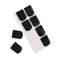 0.8mm 8x black rubber saxophone sax clarinet mouthpiece pads patches cushion VvV