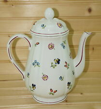 """Villeroy Boch Petite Fleur Coffee Pot with Matching Lid, 6 3/4"""", 5-Cup"""