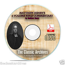 Matthew Henry's Commentary on The Bible, Christian Bible Study on CD-ROM F04