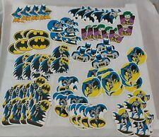 Lot mit 94x Vintage DC Comics Inc. '89 Batman Sticker / MR Badge Aufkleber 1989