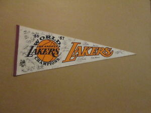 NBA Los Angeles Lakers '86 '87 World Champions Pennant