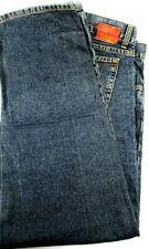 Hurley International Men Jeans Size 36 Black Distressed Button Fly Brass Rivets