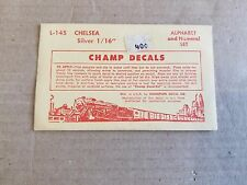 """Champ HO Chelsea Silver 1/16"""" Alphabet and Numerical Decals #L-145"""