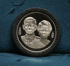 King Bhumibol Adulyadej Rama IX and Queen 1992 10 Baht Thailand Proof Coin Thai