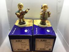 Pair of Hummel figurines-Gitarrensol and Akkordeonso #1963 numbered 553 of 7.500
