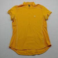 Pearl Izumi Womens Yellow Half Zip Short Sleeve Cycling Jersey Size Large