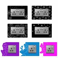Single, Double Light Plug Socket Switch Surround Finger Plate Engraved Character