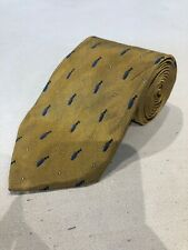 Brooks Brothers Men's Gold Novelty Pattern Silk Neck Tie $98