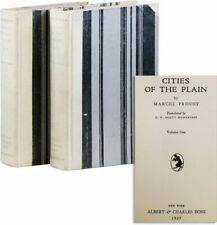 Marcel Proust CITIES OF THE PLAIN 1st Am. ed 1927, 2 vols, 1/2000 copies Printed