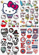 48pcs Hello Kitty Vinyl Stickers Snowboard Luggage Car Laptop Bike Phone Helmet
