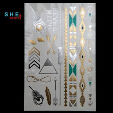 2017 Real Sale Diy Flash Tattoos Gold Wholesale Tattoo Feather Necklace cv1