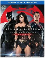 Batman v Superman: Dawn of Justice (Blu-ray Disc, 2016, 3-Disc Set, Ultimate...
