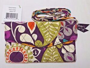 VERA BRADLEY Strap Wallet - Plum Crazy -  Organizer Use with or w/o Strap - NWT