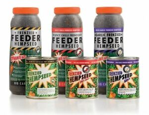 Dynamite Baits Frenzied Hemp Seed- Cans and Jars In Stock Flavours Chilli