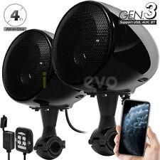 Motorcycle Bluetooth Wireless 300W Speaker Audio System Stereo ATV UTV 4 Wheeler