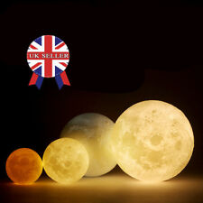 10CM 3D Printing LED Luna Night Light Moon Lamp Touch Control USB Charging Gift