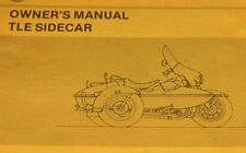 1988 1989 1990 Harley Davidson TLE Ultra Sidecar Owners Manual Supplement NEW
